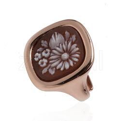 Diluca ring rosé met camee bloemen