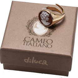 verguld zilver ring Diluca camee dame