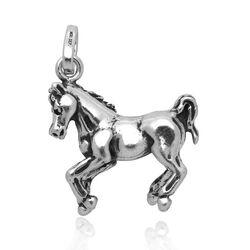 Zilveren hanger of bedel paard van Raspini