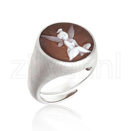 Zilveren ring camee Tinkerbel Cameo Italiano