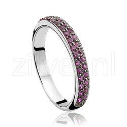 Zinzi ring robijn kleurig zirkonia zir881r