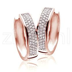 Zinzi Creolen Rosé Verguld Zirkonia Zio856r