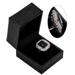 Platina ring met natuurlijke zirkoon