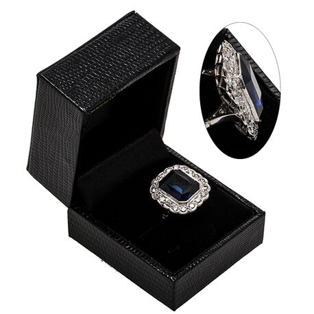 platina ring met diamantjes en zirkoon