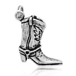 Zilveren cowboylaars hanger en bedel Raspini
