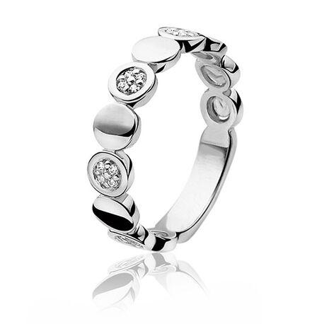 Zilveren ring met rondjes deels met zirkonia ZIR888 Zinzi