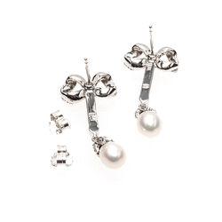 zilveren strikoorbellen pareltjes en markasiet