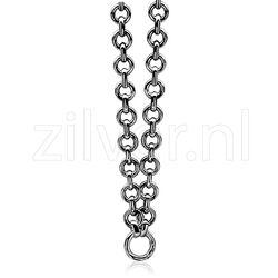 Zilveren schakelcollier 45 cm ZIC898 Zinzi