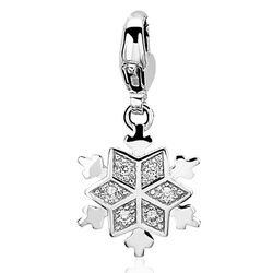 Zinzi bedel sneeuwvlokje Charms319