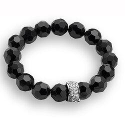 Zinzi Armband Beads Zwart Donut Zirkonia Ch-A18z