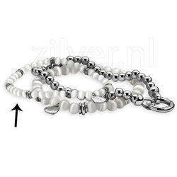 Grijs met zilver armband Zinzi zia847g