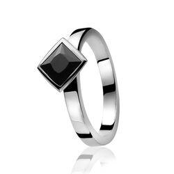 zinzi ring zwart zirconia zir445