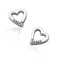 Hot Diamonds oorstekers hart DE110