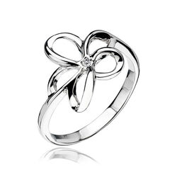 Hot Diamonds Ring Bloem Diamantje