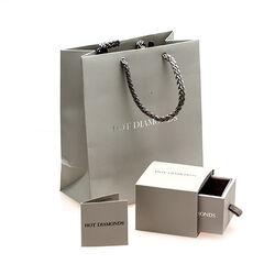 Zilveren ring bloem bezet met een diamantje Hot Diamonds dr092