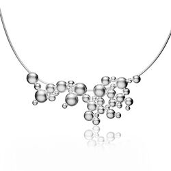 Lapponia ketting zilver Winter Pearl 660841