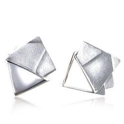 Lapponia zilveren oorstekers Origami 672084