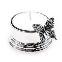 Zilveren waxinelichthouder vlinder