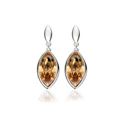 Elements Oorstekers Swarovski Kristal Champagne