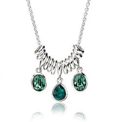 Elements Collier Swarovski Kristallen Groen