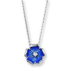 Nicole Barr Collier Met Hanger Bloem Diamant
