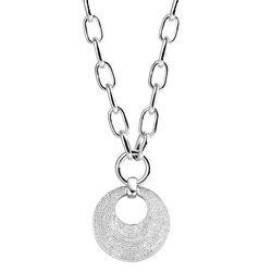 ZIlveren ketting met ronde hanger zirconia Silver Rose