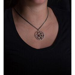 Silver Rose hanger met zwart en wit zirconia