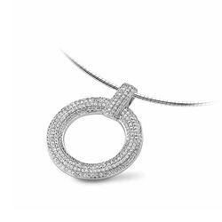 Silver Rose ketting met hanger zirconia