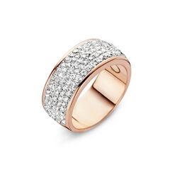 Rosévergulde ring met wit zirkonia Silver Rose