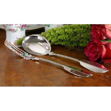 Zilveren gembercouvert parelrand