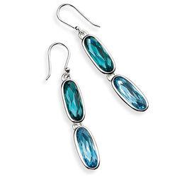Elements Oorhangers Swarovski Kristal blauw groen
