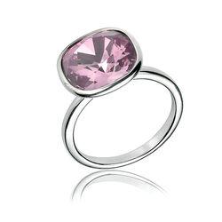 Zilver ring oud roze zirkonia van Elements