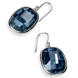 Elements Blauw Swarovski Kristal Oorhangers