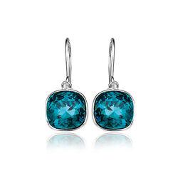Elements oorhangers blauw Swarovski kristal