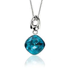 Elements Hanger Swarovski Kristal Blauw