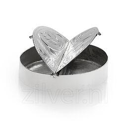 Zilveren Gegraveerd Pillendoosje 2 Vakjes
