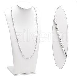 Jasseroncollier Zilver 60 Cm