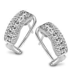 Zilver oorstekers zirconia Silver Rose Ea6108