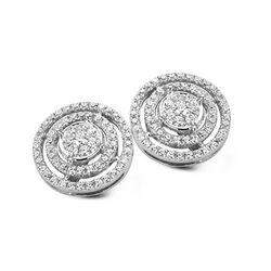 Silver Rose zilveren oorstekers zirkonia