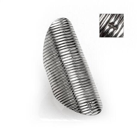 zilveren naairing rib patroon