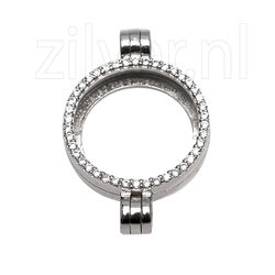 MY iMenso zilveren medaillon dubbel hangoog 240051