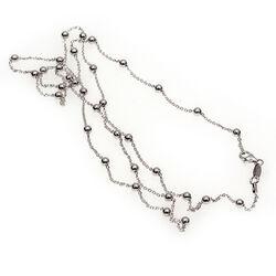 Lange zilveren bolletjes collier MY iMenso