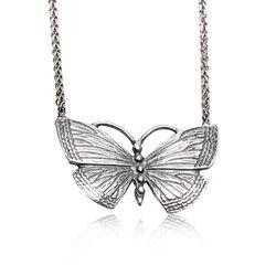 Gl Zilveren Collier Met Vlinder