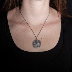 GL zilveren collier met swarovski hanger