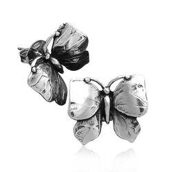 Oorstekers vlinders zilver van Raspini