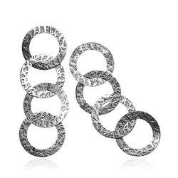 Zilver oorhangers ringen Raspini