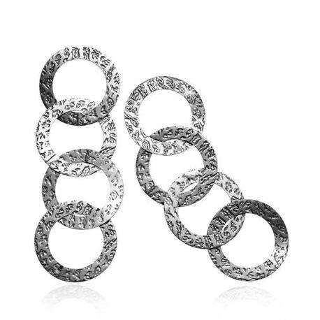 Zilveren oorbellen met grote ringen van Raspini