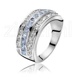 Zinzi ring blauw wit zirconia Zir307b