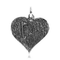 Zilver hanger hart golfvlaggetje Raspini