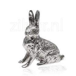Miniatuur Zilveren Haas Zittend